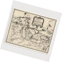 Old Great Lakes Map Art Print 1755 Archival Reproduction