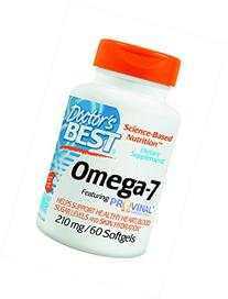Doctor's Best Omega-7 Featuring Provinal Supplement, 60
