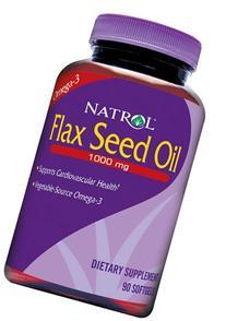 Natrol Omega-3 Flax Seed Oil - 1000 Mg - 90 Softgels