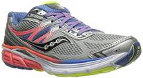 Saucony Women's Omni 14 Running Shoe, Silver/Blue/Coral, 5 M