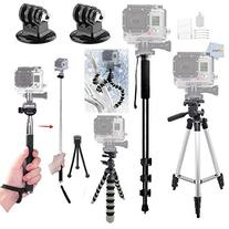 All in One Complete Tripod Kit Made to be used with GoPro