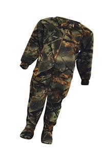 Infant Camo One Piece Footed Fleece Crawler W/ Magnet, 6-12