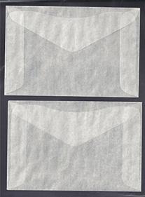 One Hundred  #4 Glassine Envelopes -- 3 1/4 x 4 7/8