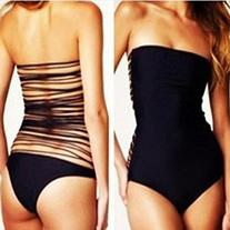 Fourcatz Womens One Piece Open Back with Mulitple Strings