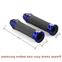 One Pair Blue Motorcycle Aluminum CNC Racing & Soft Rubber 7