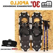 "New MTN 30"" OP All Terrian Snowshoes + Nordic Pole + Free"