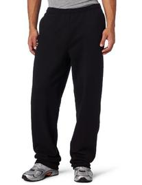 Champion Men's Open Bottom Eco Fleece Sweatpant, Black,