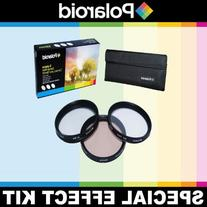 Polaroid Optics 3 Piece Special Effect Lens Filter Kit  For