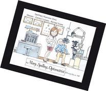 Optometry Personalized Gift Custom Cartoon Print 8x10, 9x12