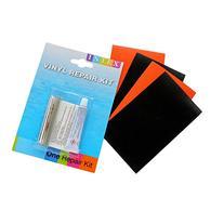 "4x Orange+Black 3x5"" Vinyl+Intex Repair Kit for Inflatables"
