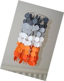 Orange and Gray Ombre Crib Mobile