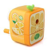 SODIAL Orange Pencil Sharpener Hand Crank Manual Desktop