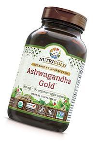 Nutrigold Organic Ashwagandha Gold, 500 mg, 90 Veggie