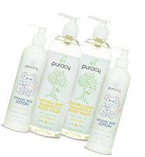 Puracy Natural and Organic Baby Care Gift Set with Baby