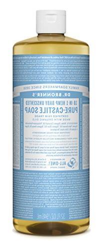 Dr. Bronner's Organic Pure Castile Liquid Soap Baby-Mild