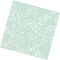 Organic Fitted Crib Sheet - Mint Clouds