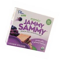 Plum Kids Organic Jammy Sammy Snack Size Sandwich Bar, Grape