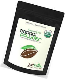 Joyfuel Organic Raw Cacao Powder, Rich Dark Chocolate, 16