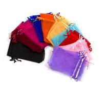"MBOX Colorful 4x6"" Organza Drawstring Pouch Bag 100pcs"