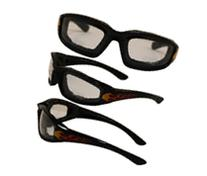Birdz Oriole Flame Design Motorcycle Glasses with Clear