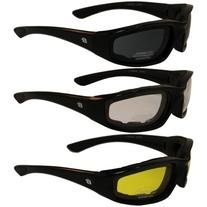 ORIOLE Foam Padded Sunglasses - Clear/Smoke/Yellow Tint All