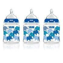 NUK 14059 Elephants Baby Bottle with Perfect Fit Nipple,