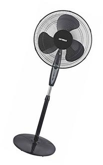 Optimus 16 Inch Oscillating Stand Fan with Remote Control,