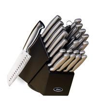 Oster 70562.22 Baldwyn 22-Piece Cutlery Block Set, Brushed