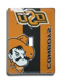 OSU Cowboys Metal Light Switch Plate