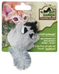 OurPets Play-N-Squeak Backyard Raccoon Catnip Cat Toy