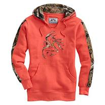 Legendary Whitetails Ladies Outfitter Hoodie Hot Coral Large