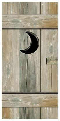 Outhouse Door Cover Party Accessory
