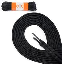 OrthoStep Oval Athletic Black 54 inch Shoelaces 2 Pair Pack