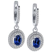 2.82 Ct Oval Blue Simulated Sapphire 925 Sterling Silver