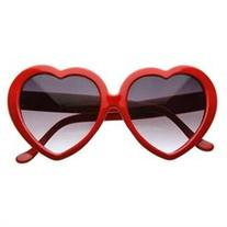 Large Oversized Womens Heart Shaped Sunglasses Cute Love