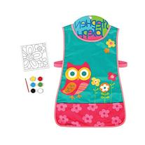 Stephen Joseph Owl Craft Apron and Canvas Paint Set for