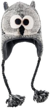 Black//White Nirvanna Designs CHPANDA2 Panda Hat with Fleece Toddler