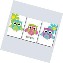 Owl Nursery Wall Art,Owl Baby Room Decorations,Owl Wall Art,