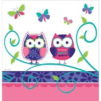 Owl Pal Birthday 54 x 108 Plastic Tablecover Border Print 6