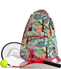 NGIL Owl Print Tennis Backpack
