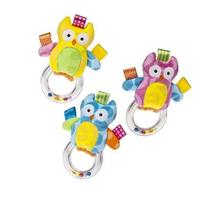 Owl Ring Rattle Taggies Colour - Colors May Vary