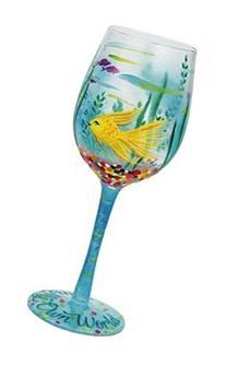 Lolita Glassware In My Own World Wine Glass , Multicolor