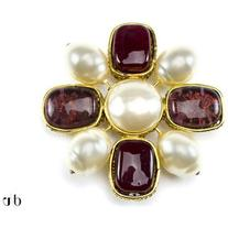 Pre-owned Chanel Vintage Poured Glass Brooch