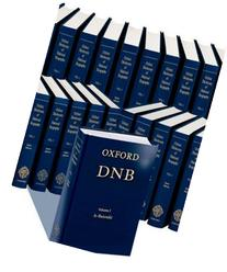 Oxford Dictionary of National Biography Plus Index of