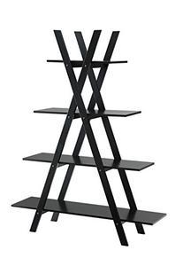 "Convenience Concepts Oxford ""A"" Frame Bookshelf, Black"