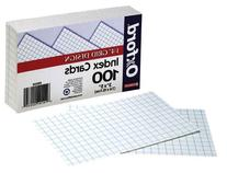 Oxford Grid Design Index Cards, 3 x 5 Inches, White, 100 per