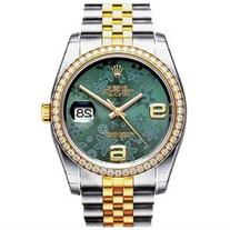 Rolex Oyster Perpetual Datejust 36 Green Floral Steel and