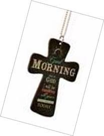 P. Graham Dunn 107842 Car Charm Cross Good Morning This Is