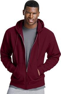 Hanes ComfortBlend® EcoSmart® Full Zip Hoodie, Maroon, XL