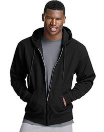 Hanes Men's ComfortBlend Full-Zip Hood 7.8 oz., L-Black